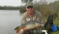 Bailiff David Barry with a typical Bradley Green margin caught mirror, yesterday 30/03/2014.