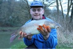 End of season barbel for Stuart Sharp from the Avon on the 14/03/14.