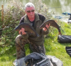Bailiff Dave Barry with a brace from Wood Bev 16-04-15