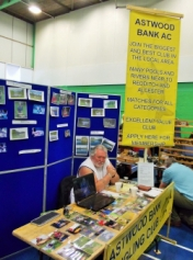 Promoting the club at the vintage tackle fair Redditch.17/05/15.
