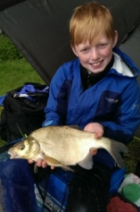 Hayden Sharp floatfished maggot at Cann lane for this bream amongst his mixed bag in April 2014.