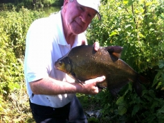 John Davis with a nice bream from the River Avon