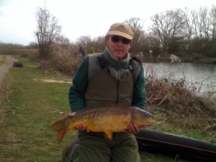 Don Perks with a nice carp from Wood Bevington early 2014.