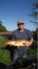 John Williams with a double figure common from Cann lane on 12/05/15 caufht on floatfished breadflake.