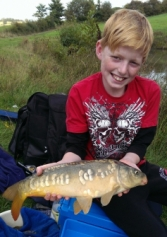 Young Hayden Sharp in amongst the carp again at Alvechurch 1. Method feeder to the island accounted for around a dozen carp and a small perch on 6/9/14.