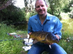Name: Richard Johnson, Fish: Mirror, Weight: Unknown, Water: Cann Lane, Method: Float Fished Bread Flake, Date: July 2011